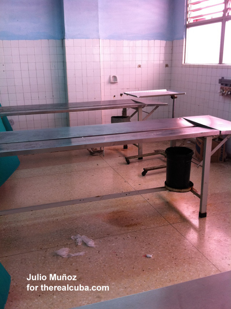 The Emergency Room Medical supplies that had been used on other patients could be seen on the floor