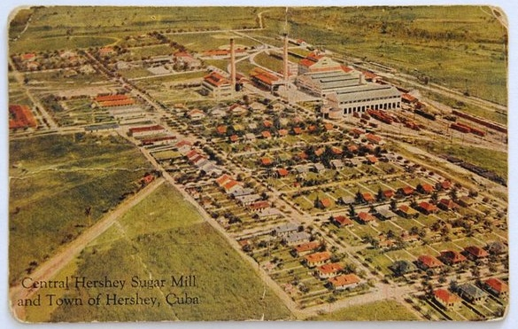 This is how the sugar mill and Hershey Town looked before the Castro brothers stole it and destroyed it