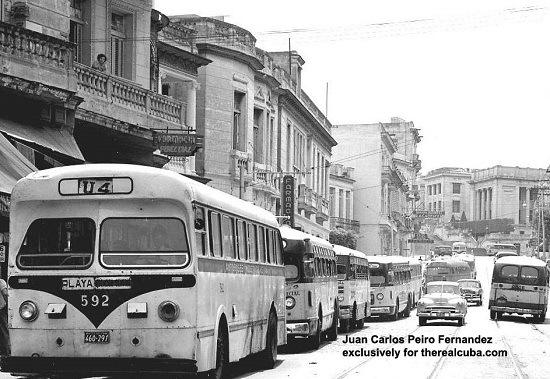 "Look at how many public buses were available back then. Now, Cubans refer to buses as ""aspirins,"" because you can only take one every 6 hours"